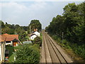 TM1585 : Railway Lines off Glebe Road Railway Bridge by Adrian Cable