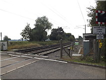 TM1585 : Railway Lines at Grove Road Level Crossing by Adrian Cable