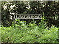 TM1484 : Burston Road sign by Adrian Cable