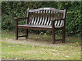 TM1483 : Seat on Gissing Road by Adrian Cable