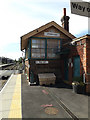 TM0595 : Attleborough Signal Box at Attleborough Railway Station by Adrian Cable