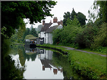 SO8171 : Canal near Stourport, Worcestershire by Roger  Kidd