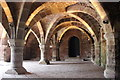 SJ5483 : The 12th Century Vaulted Undercroft at Norton Priory by Jeff Buck