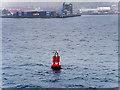 HU4742 : Bressay Sound, Red Buoy near Lerwick by David Dixon