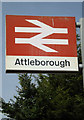 TM0595 : Attleborough Railway Station sign by Geographer