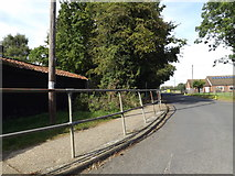 TM0691 : Railings along Abbey Road by Adrian Cable