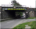 SH7401 : North side of Machynlleth railway bridge by Jaggery