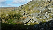 HU3919 : Small quarry on Ward of Scousburgh by Mike Pennington