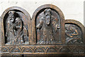 TF0043 : Wooden carvings, St Mary's church, Wilsford by J.Hannan-Briggs