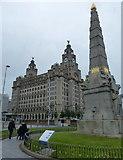 SJ3390 : Memorial near the Royal Liver Building by Mat Fascione