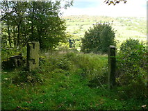 SE0927 : Old gateway at Lower Hagstock, Northowram by Humphrey Bolton