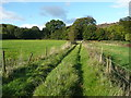 SE0927 : Diverted footpath on a track off Lee Lane, Norrthowram  by Humphrey Bolton