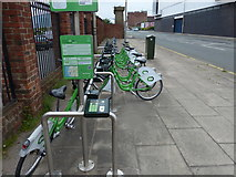 SJ3391 : Liverpool's citybike cycle hire station by Mat Fascione