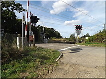 TM1585 : Grove Road Level Crossing on Grove Road by Adrian Cable