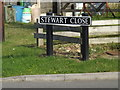 TM1389 : Stewart Close sign by Adrian Cable