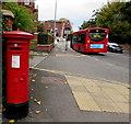 SJ6551 : King George V pillarbox, Pillory Street, Nantwich by Jaggery