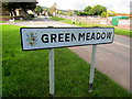 ST2895 : Greenmeadow boundary sign, Cwmbran by Jaggery