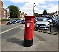 SJ8892 : Victorian Postbox at Heaton Chapel by Gerald England