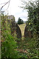 SE1488 : View through stile in dry stone wall beside Wood Lane by Roger Templeman