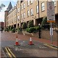 SJ3350 : Pedestrian Zone sign, Lambpit Street, Wrexham by Jaggery