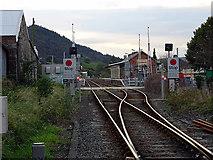 SH5639 : Porthmadog station loop by John Lucas