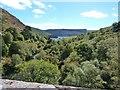 SN8968 : Pen-y-Garreg reservoir from the top of the Craig Goch dam by Derek Voller