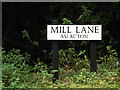 TM1590 : Mill Lane sign by Adrian Cable