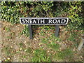 TM1589 : Sneath Road sign by Geographer