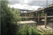 SP0990 : Spaghetti Junction from the train, Gravelly Hill, Birmingham by Robin Stott
