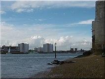 SZ6299 : On the beach at Portsmouth by Marathon