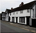 SJ6552 : Black and white part of Hospital Street, Nantwich by Jaggery