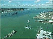 SU6200 : Portsmouth Harbour from the Spinnaker Tower by Marathon
