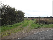 TM1787 : Prangle Lane Bridleway to the B1134 Station Road by Adrian Cable
