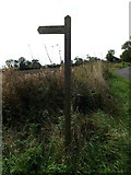 TM1787 : Prangle Lane Bridleway sign by Adrian Cable