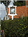 TM1690 : Fox & Hounds Public House sign by Adrian Cable