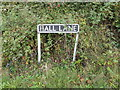 TM1791 : Hall Lane sign by Adrian Cable