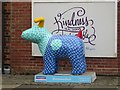 NZ2566 : Great North Snowdog Es Tu Costa, Hazelwood Avenue, Jesmond by Graham Robson