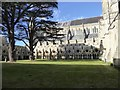 SU1429 : The cloisters and nave, Salisbury Cathedral by David Smith