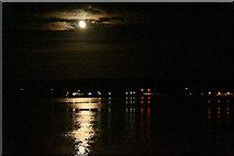 HU4841 : Moonshine on Bressay Sound by Mike Pennington