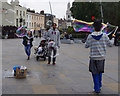 TQ3877 : Street entertainer, Greenwich by Ian Taylor