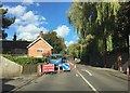 SJ7548 : Roadworks in Betley by Jonathan Hutchins