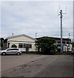 SO6303 : Lydney Telephone Exchange and mast by Jaggery