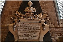 SK9136 : Grantham, St. Wulfram's Church: The William Cust memorial by Michael Garlick