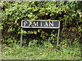 TM1785 : Ram Lane sign by Adrian Cable