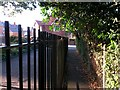 SZ1491 : Tuckton: footpath I12 approaches Belle Vue Road by Chris Downer
