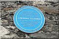 SH2578 : Blue Plaque on Towyn Lodge, Trearddur by Jeff Buck