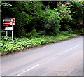 SO5819 : Brown direction sign on the approach to Kerne Bridge by Jaggery
