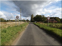 TM1093 : Entering Carleton Rode on Mill Road by Adrian Cable