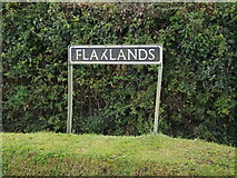 TM1093 : Flaxlands sign by Adrian Cable