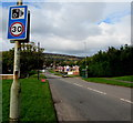 ST2895 : Combined speed limit and speed camera sign, Cwmbran by Jaggery
